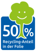 50% Recycling Anteil