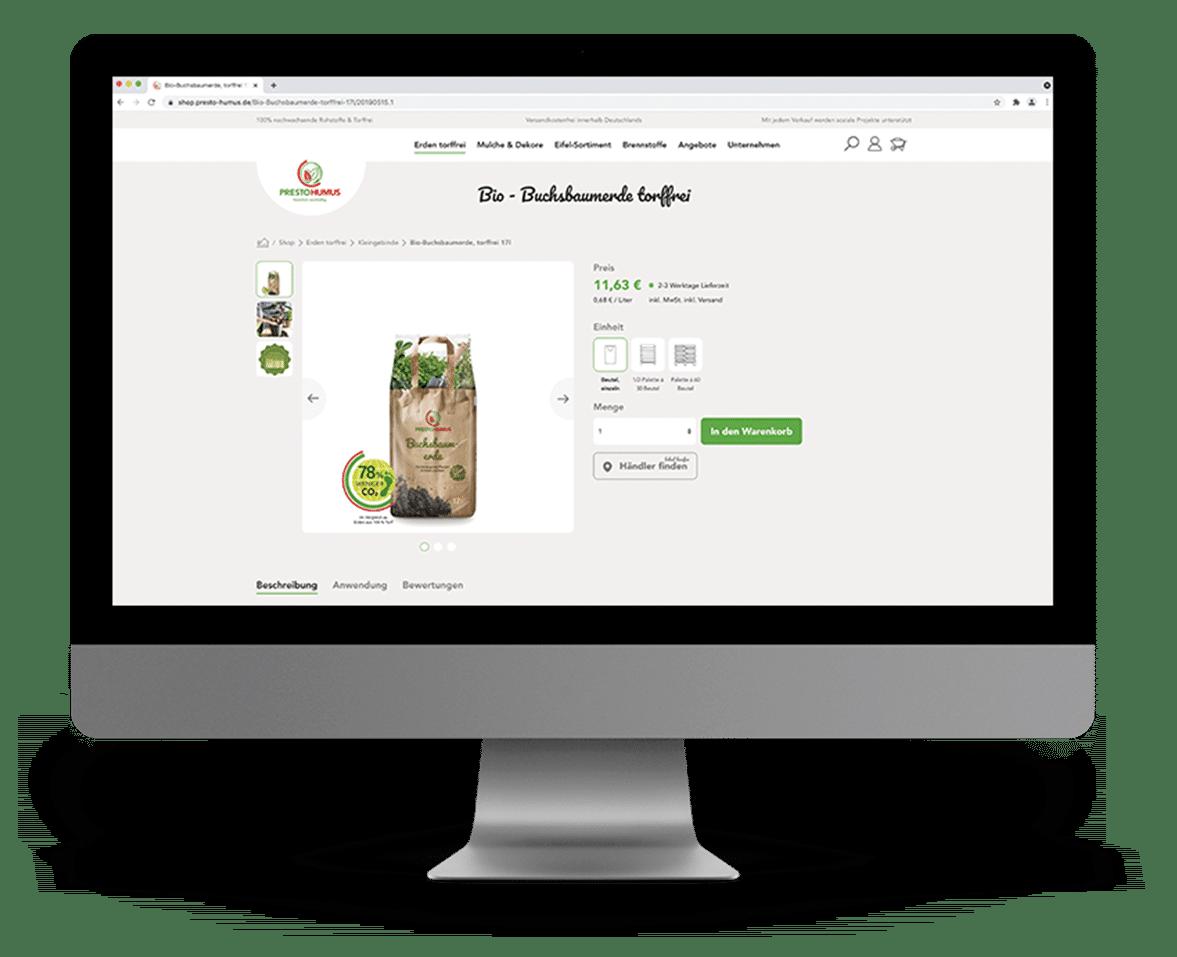 Blumenerde online kaufen Presto Humus Shop